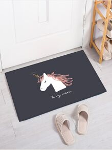 Unicorn Print Floor Mat