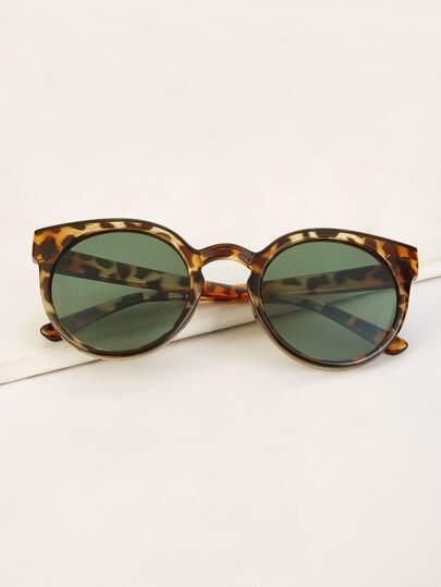 9b4c9c6306 Tortoiseshell Frame Tinted Lens Sunglasses