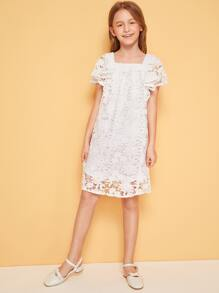 Платье с кружевом для девочки ажурные платья для девочек купить на
