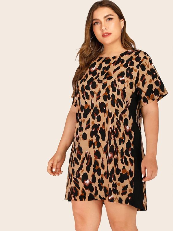 Plus Leopard Print Dress