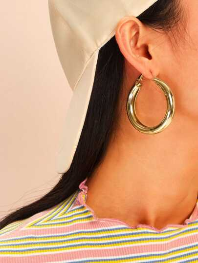 Simple Hoop Earrings 3pairs