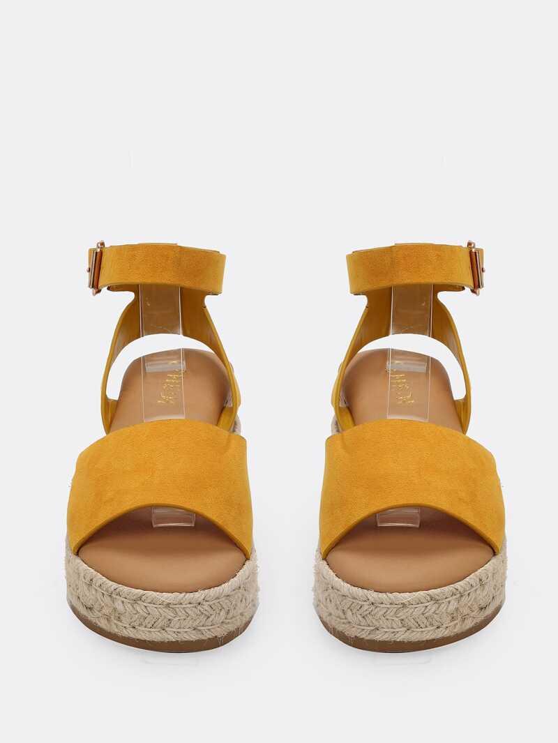 Sandales À Avec Compensées Plate Bandes Forme 6fgYbvy7