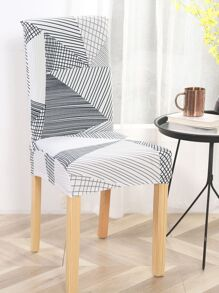 Graphic Print Stretchy Chair Cover 1pc
