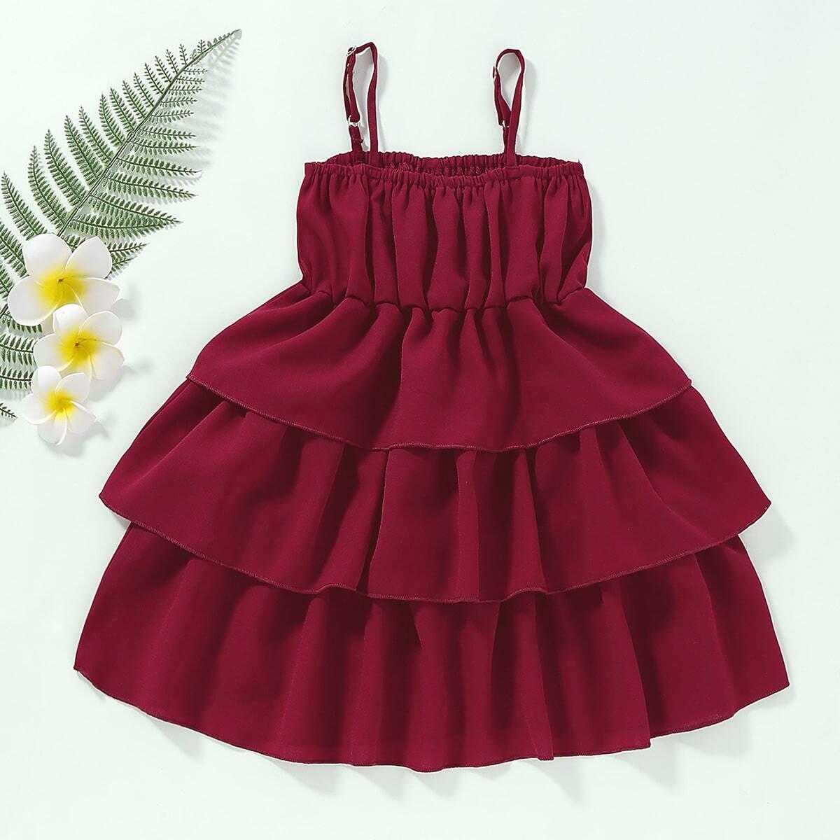 Многоуровневое платье для девочек