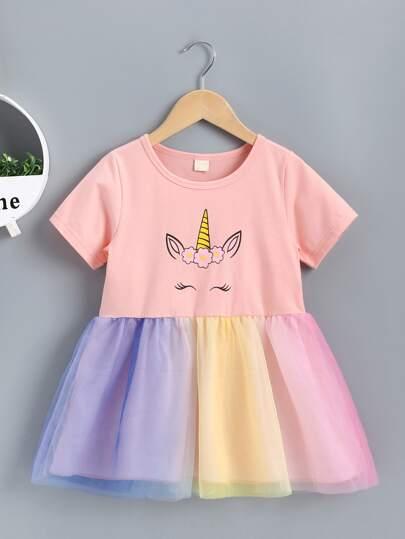 f580da2649567 Toddler Girl Dresses, Shop Toddler Girl Dresses Online | SHEIN UK