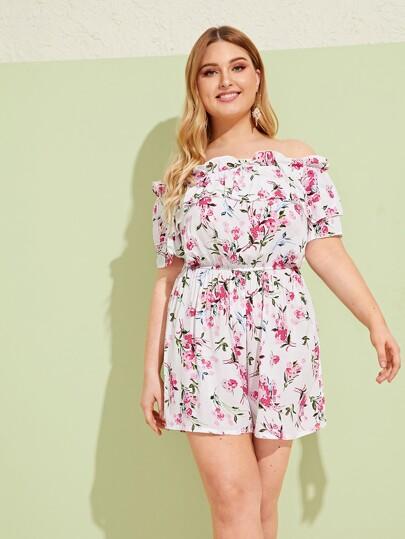bdca881d08932 Women's Plus Size Jumpsuits & Rompers | SHEIN