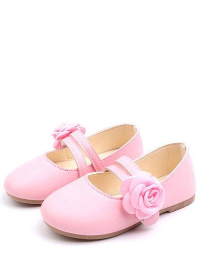 Toddler Girls Floral Decor Flats