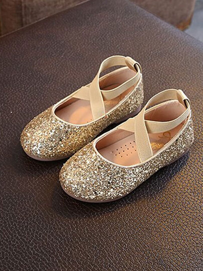 Toddler Girls Glitter Ballet Flats