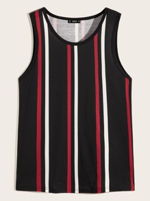 Men Striped Tank Tee