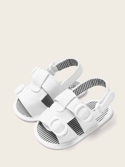 Baby Boys Striped Detail Slingback Sandals