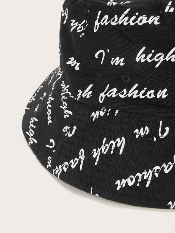 a1e7b9f28e Men Letter Bucket Hat | SHEIN