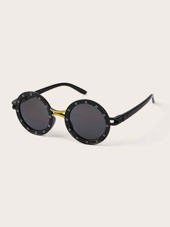 5c43d9f7cf Gafas de sol de niñitos de marco redondo con diseño de diamante de imitación  | SHEIN ES