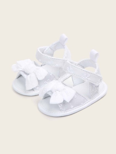 Baby Girls Bow Decor Open Toe Sandals
