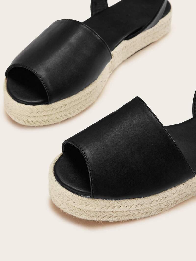famosa marca de diseñador calidad superior moda caliente Sandalias alpargata con tira tobillera de punta abierta
