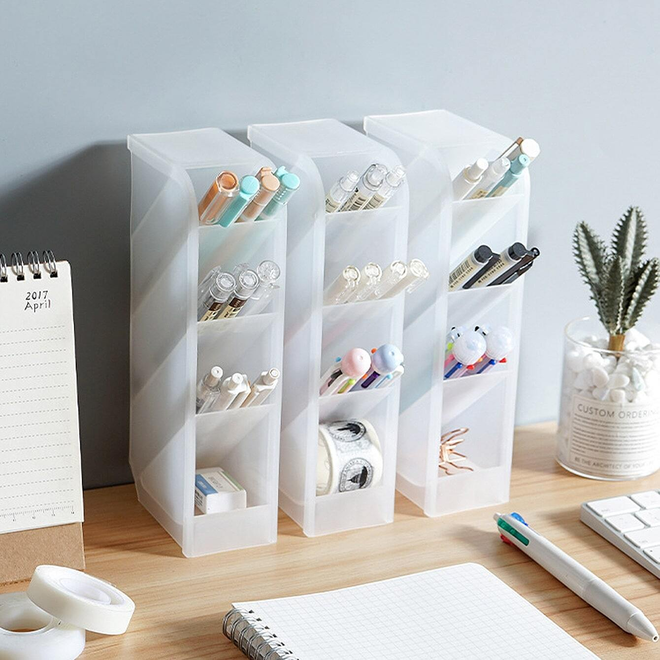 SHEIN coupon: 4 Grid Pencil Holder 1pc