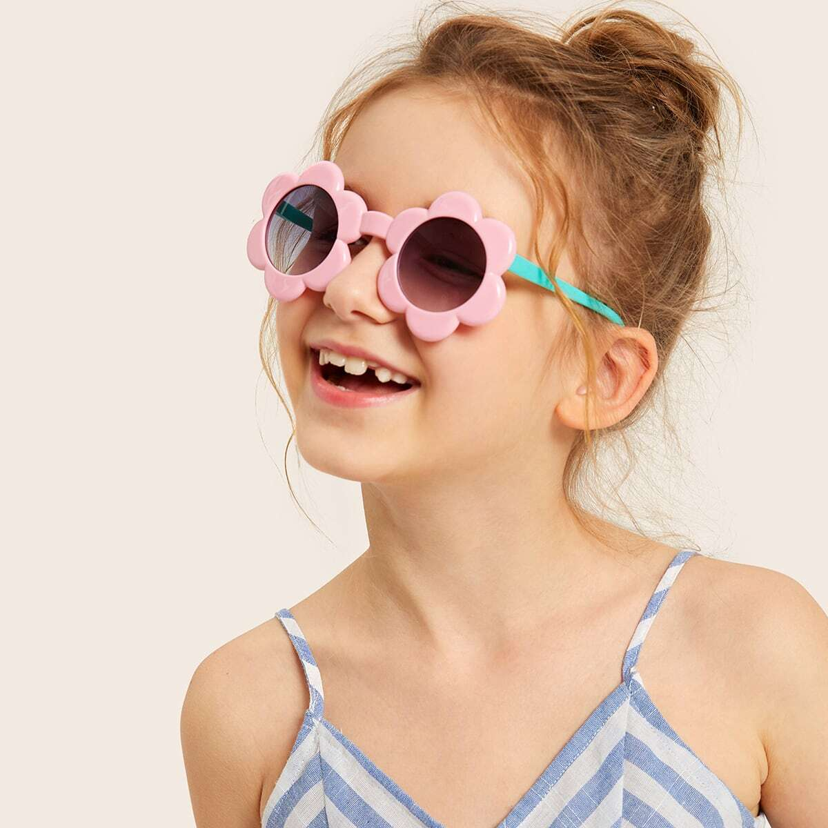 Toddler Girls Flower Shaped Frame Tinted Lens Sunglasses