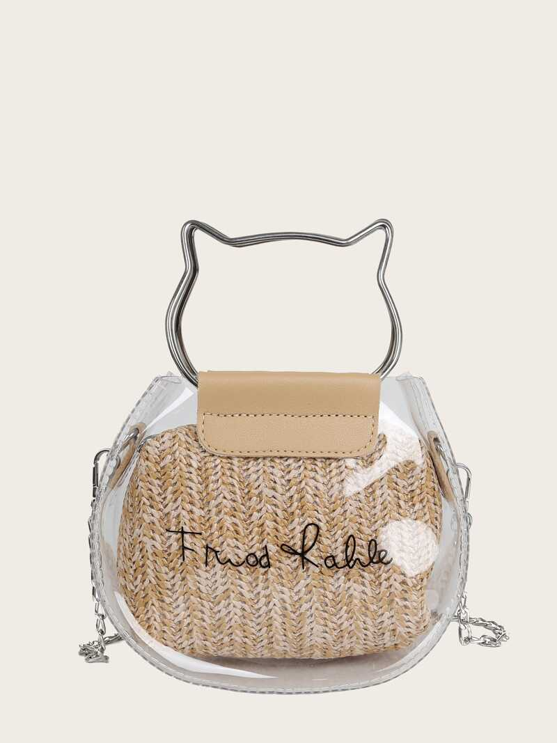 clear-satchel-bag-with-woven-inner-pouch by romwe