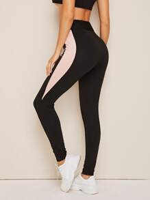 Contrast Panel Leggings