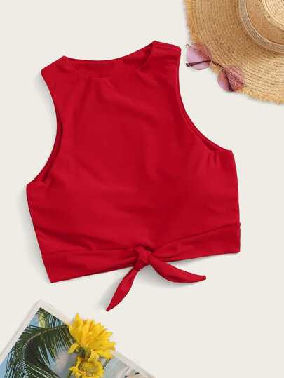 Knot Front Swimming Top