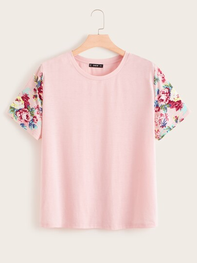 fb427c478 Plus Size T-shirts, Shop Plus Size T-shirts Online | SHEIN UK