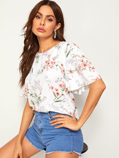 d3da0564dfb67 Blouses   Women's Blouses & Tops   White, Floral, Lace & More   ROMWE