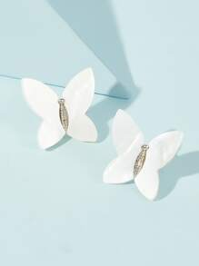 Butterfly Shaped Brooch 1pair