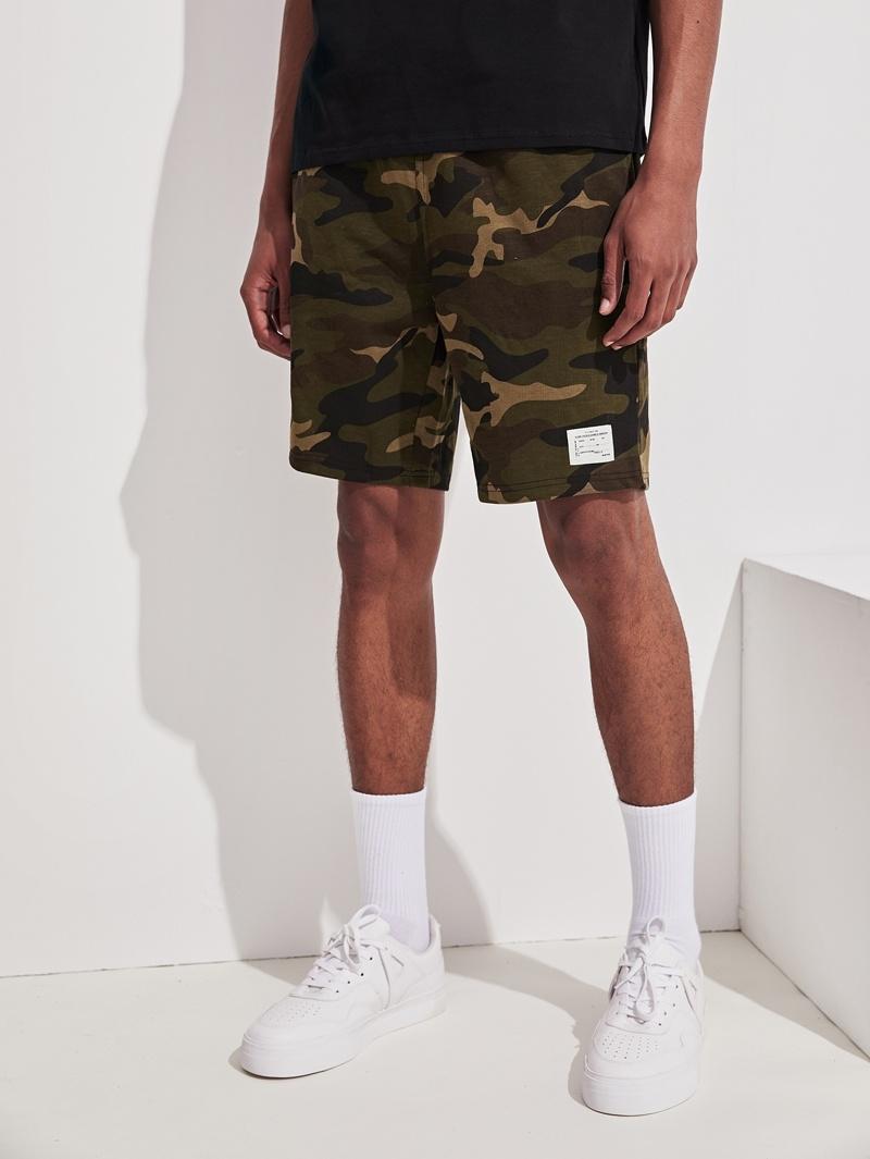 Camouflage Avec Avec Imprimé Imprimé Short Short OXuZwkPTi