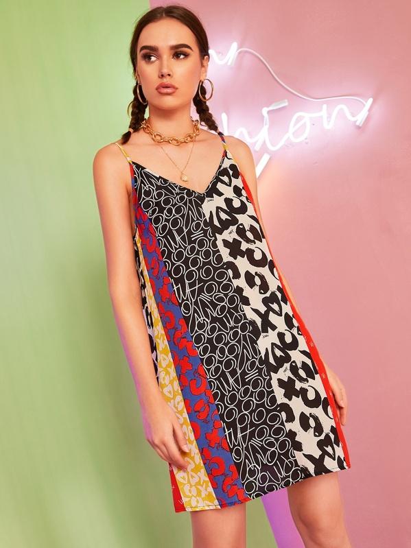 c1cc4cb1e2 Mixed Print Slip Tunic Dress