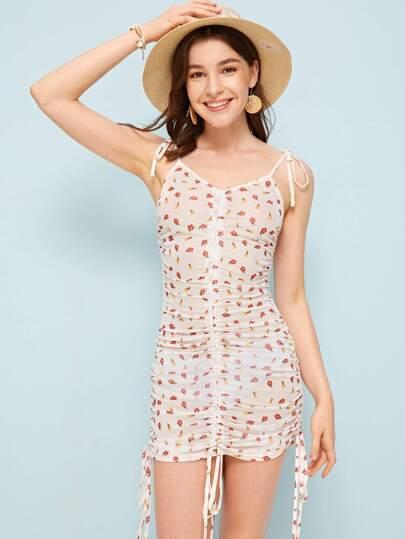 ee3d6cdf21c Kleid mit Blumen Muster