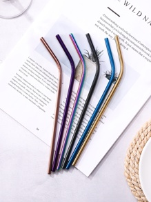 Metal Curved Straw 1pc