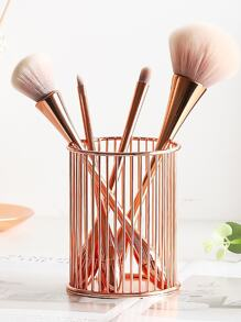Metal Makeup Brush Storage Bucket