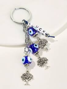 Eye & Tree Charm Keychain