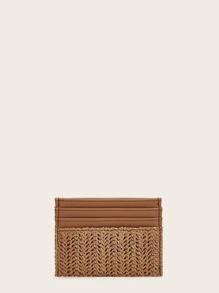 Woven Purse With Card Holder