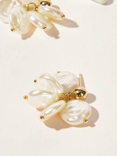 ac62b470ccc Round Faux Pearl Decor Drop Earrings 1pair