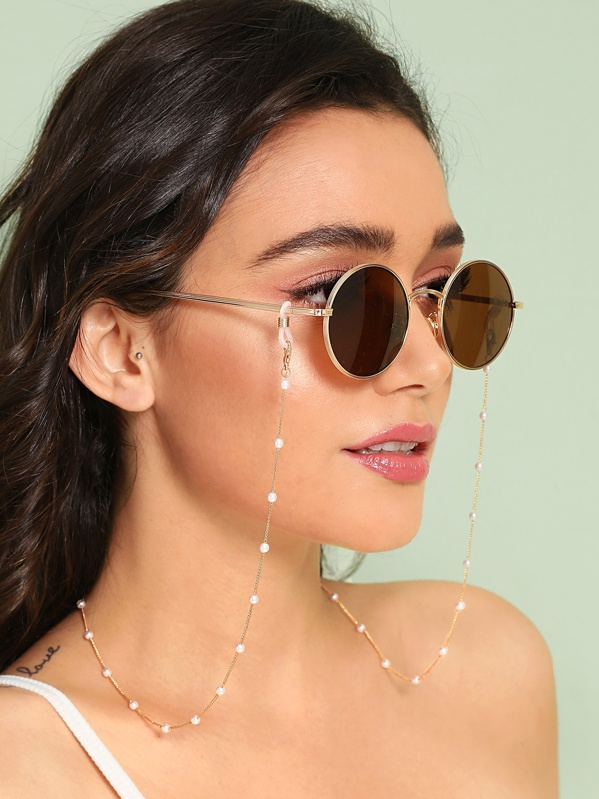 c2c65bbe76 Faux Pearl Rosary Glasses Chain | SHEIN