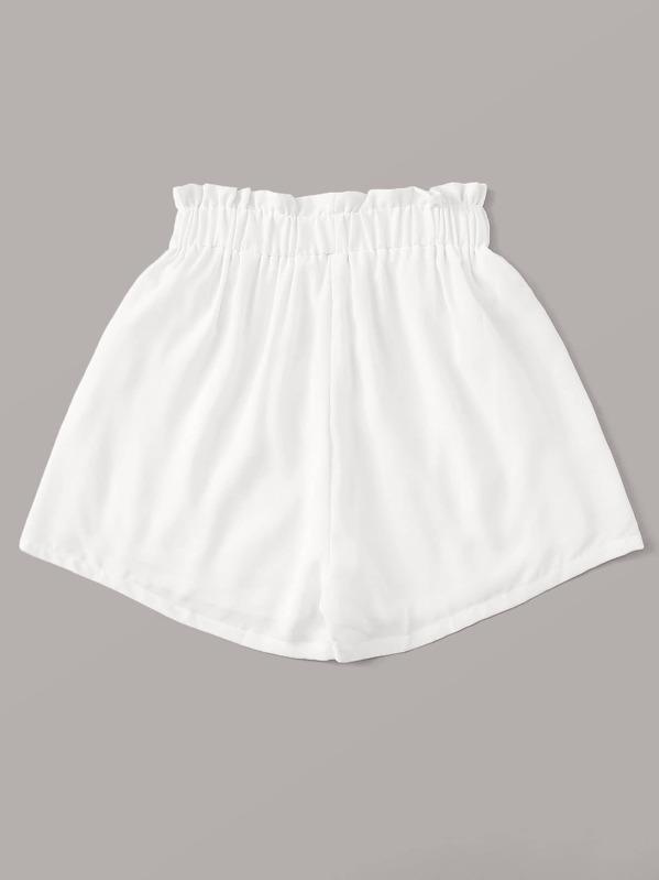 0927233e26c0de Short unicolore avec taille froncée et poches