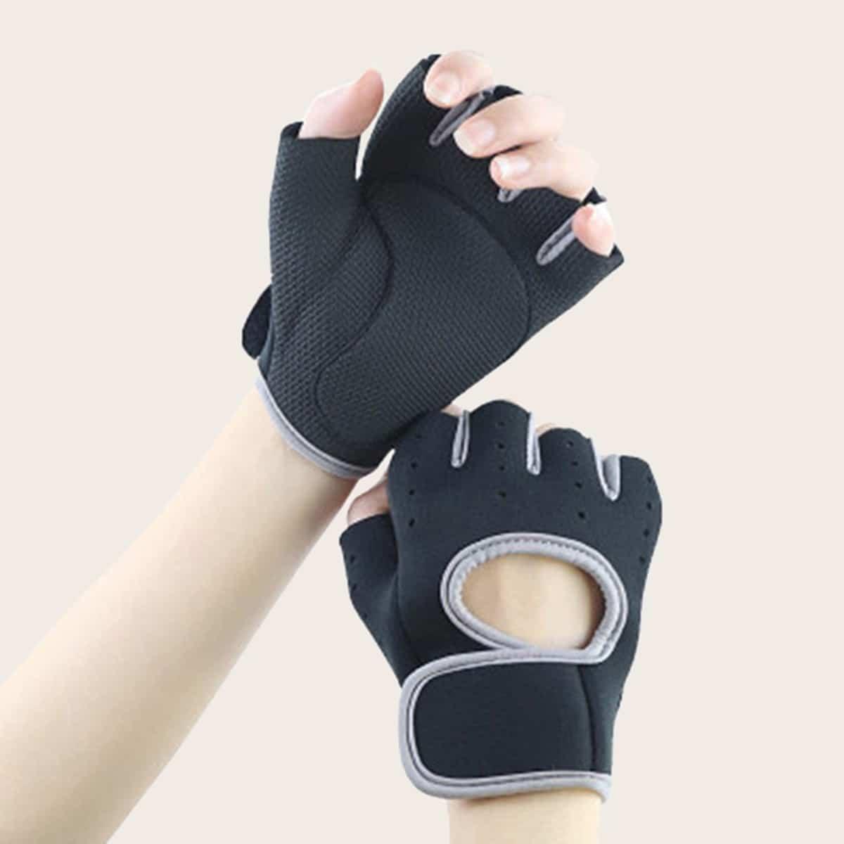 SHEIN coupon: Cut Out Decor Fingerless Gloves 1pair