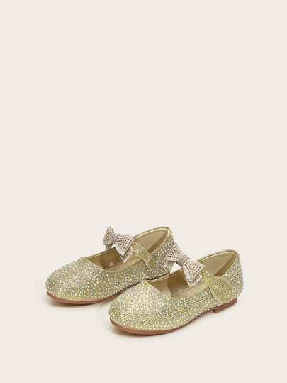 Toddler Girls Rhinestone Decor Flats