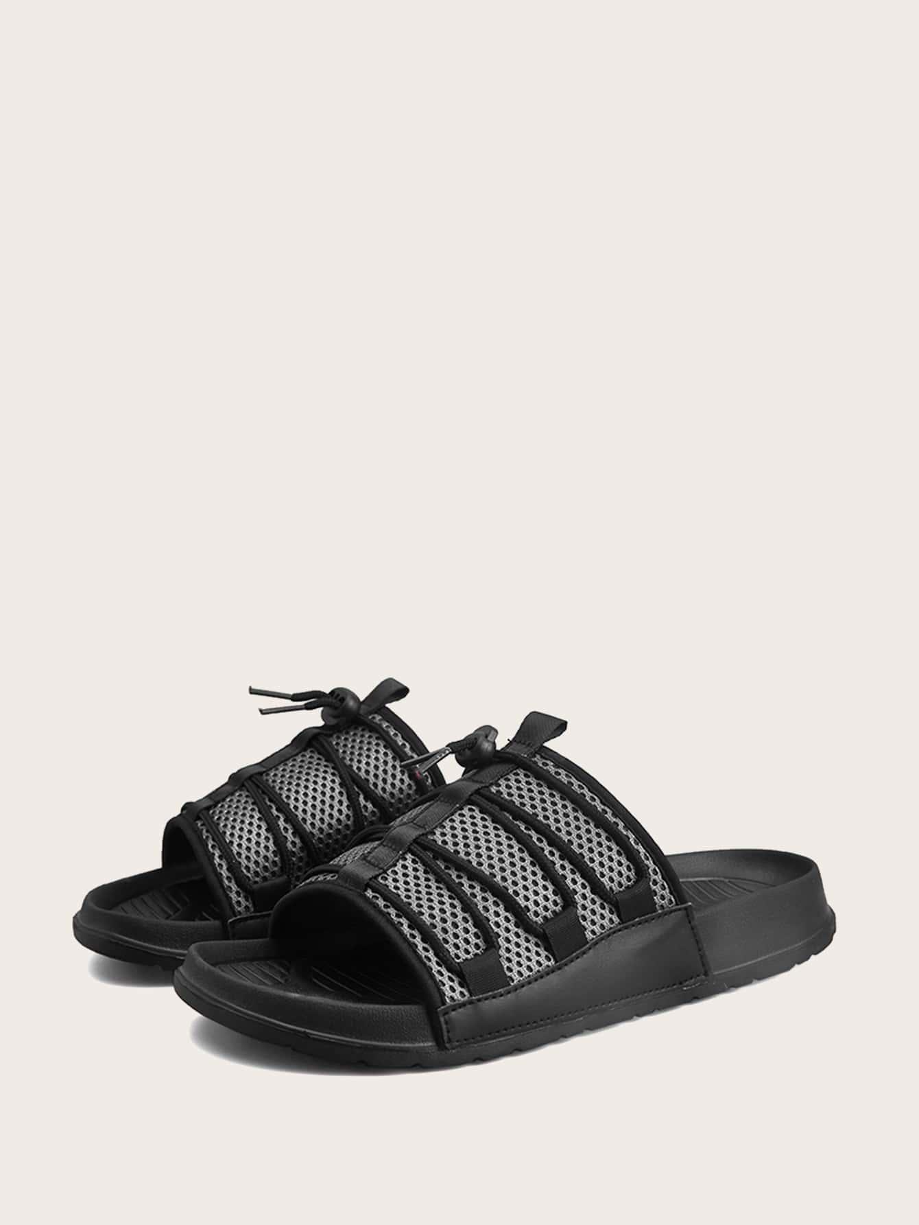 ec843cb3f Men Open Toe Wide Fit Sliders | SHEIN UK