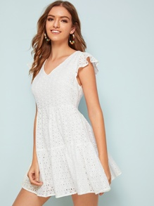 Solid Fit and Flare Schiffy Dress