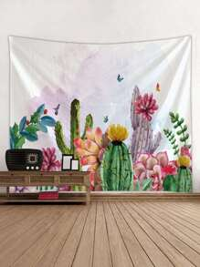 Tropical Plant Print Tapestry 1pc