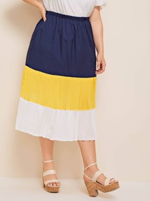 Plus Cut And Sew Pleated Skirt