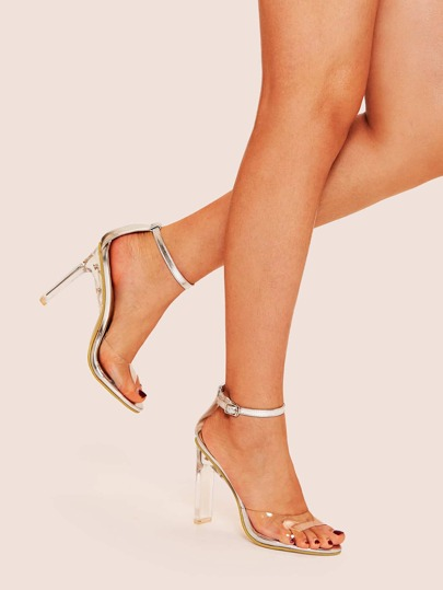51639421d13 Transparent Ankle Strap Heels