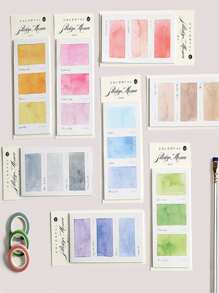 Random Water Color Sticky Note 1pack