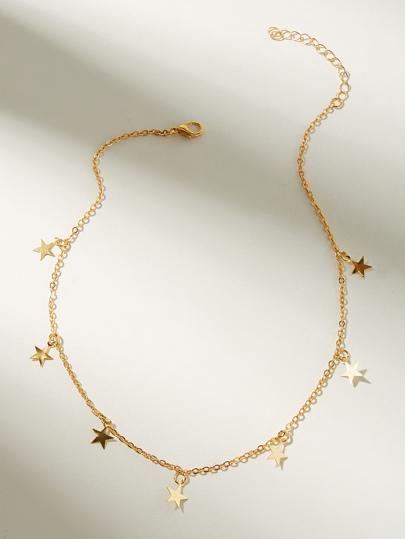 c52ded9886c3 Gargantilla de cadena con diseño de estrella 1 pieza
