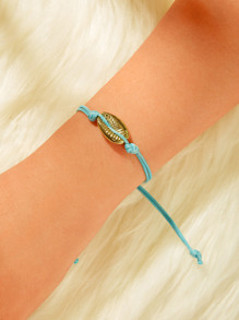 Shell Decor Adjustable Bracelet 1pc