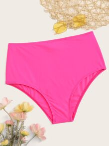 Neon Pink High Waist Swimming Panty