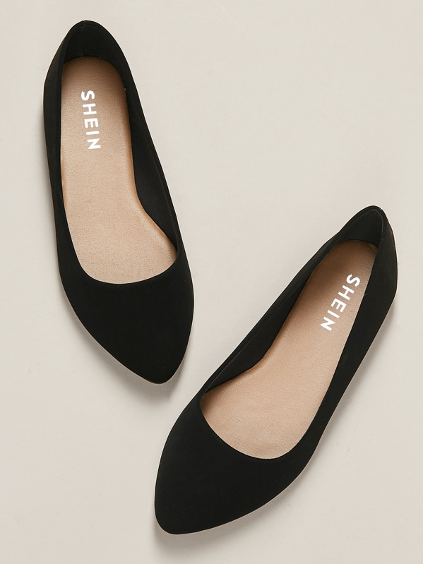 581474bbc07 Wide Fit Pointed Toe Ballet Flats