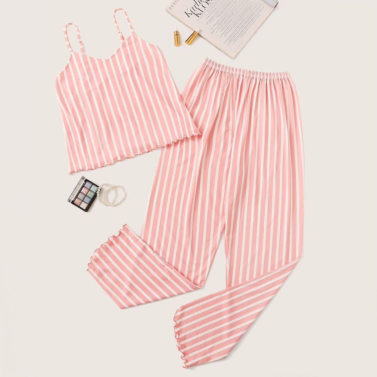 Пижама в полоску с оригинальным низом