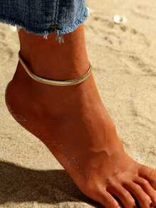 Solid Chain Anklet 1pc